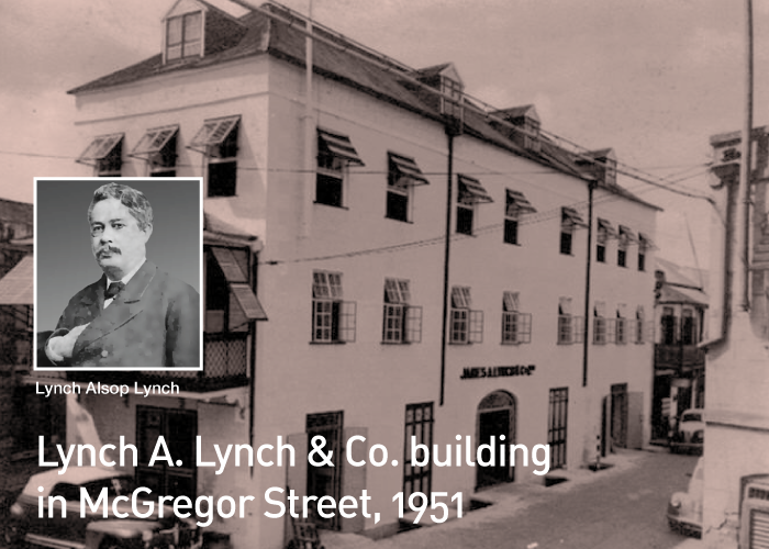 Lynch A. Lynch & Co. building in McGregor Street, 1951